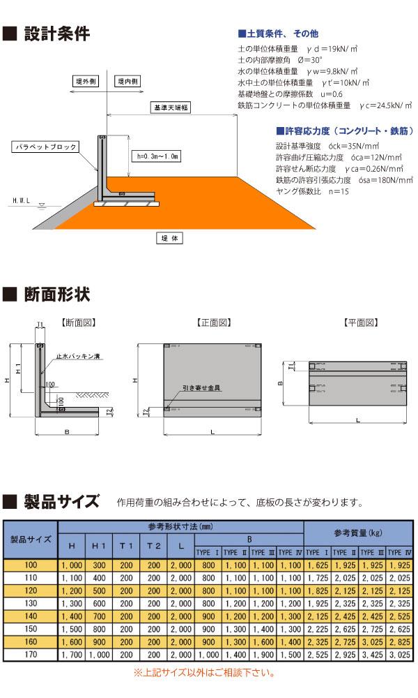 パラペットブロック図面