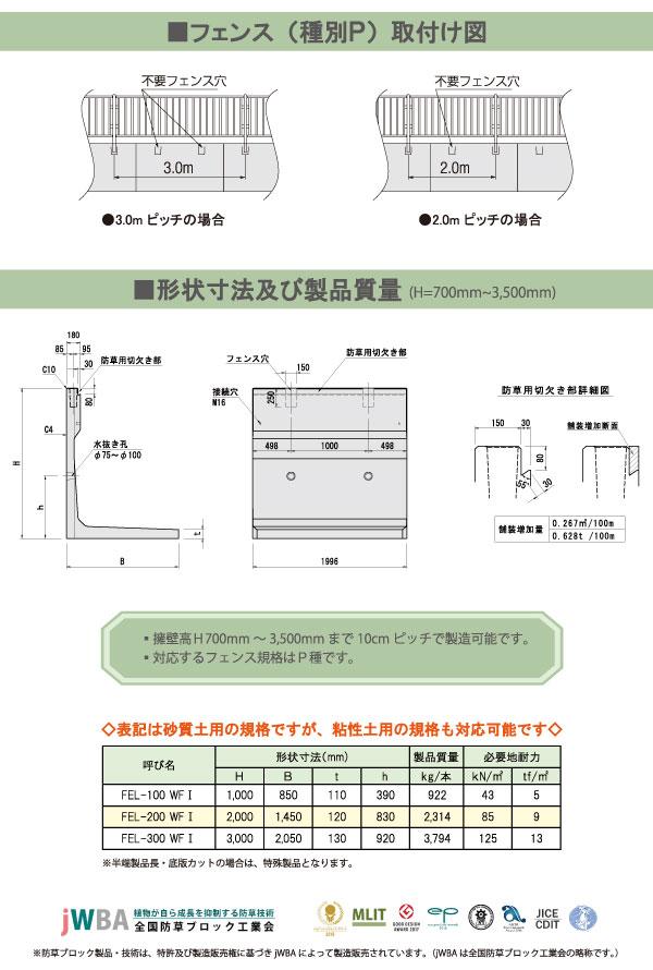 防草タイプ・FEL・寸法
