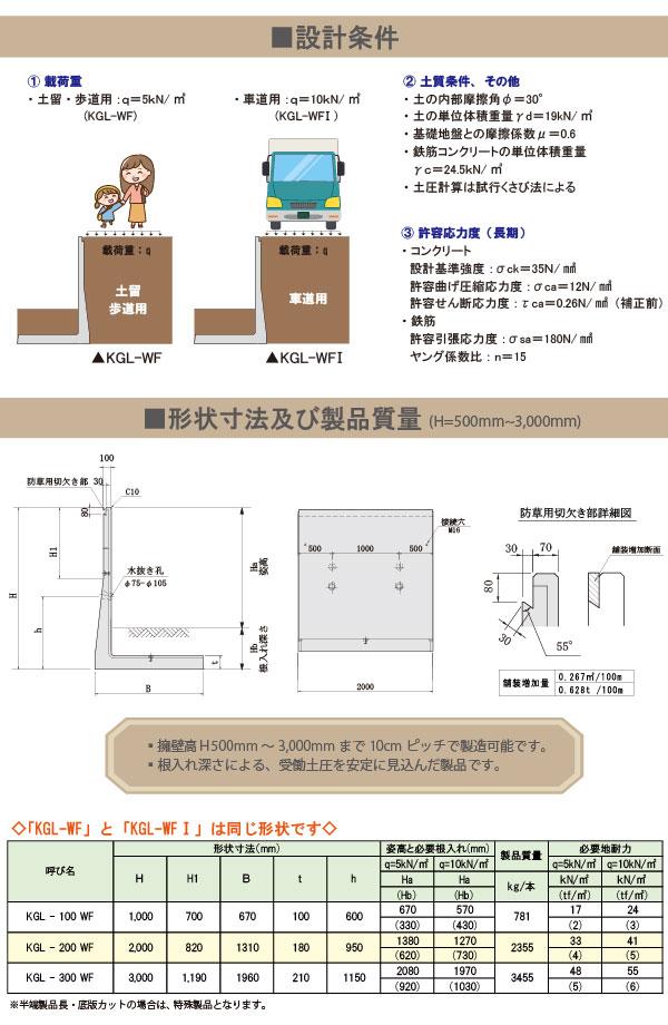 防草タイプ・KGL・寸法